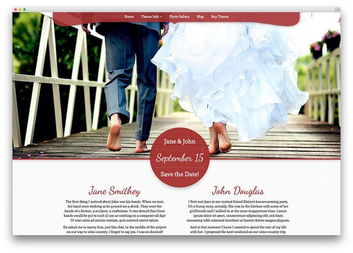 WordPress Theme Hochzeitswebsite