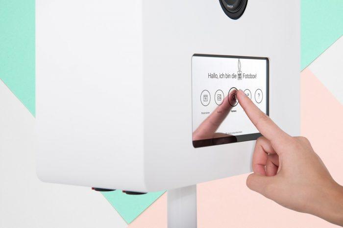 Touchscreen-Fotobox mieten