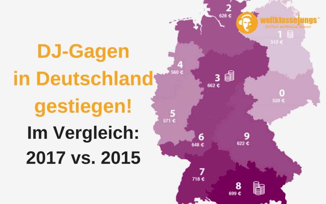 DJ-Gagen in Deutschland steigen: Vergleich 2017 vs. 2015 + Infografik