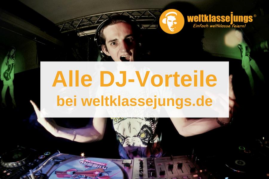 Von diesen Vorteilen profitieren DJs bei weltklassejungs.de
